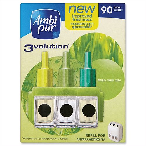 Ambi-Pur 3volution Air Freshener Refill for Fragrance Unit Spring Flowers VMS3VR