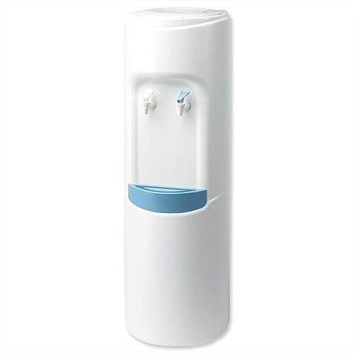 CPD Water Cooler Dispenser Floor Standing White, Easy Change &Maintenance, 15L Stainless Steel Reservoir, Removable Dish Washer Tray