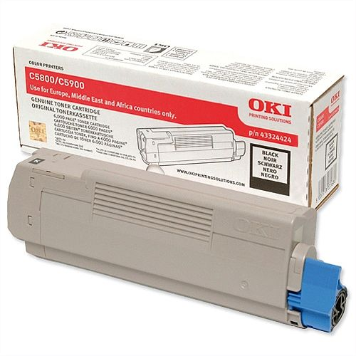 Oki 43324424 Black Toner Cartridge