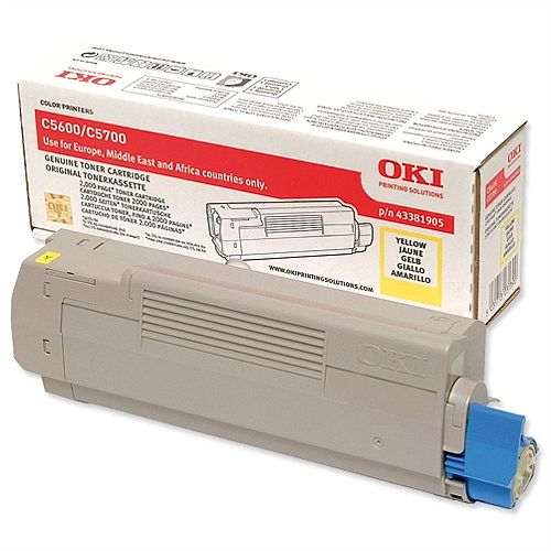 OKI 43381905 Yellow Toner Cartridge