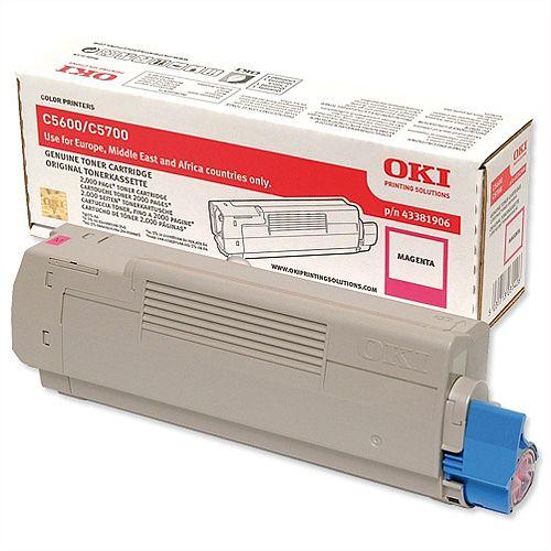 OKI 43381906 Magenta Toner Cartridge