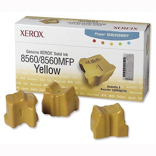 Xerox 108R00725 Yellow Ink Sticks Pack 3