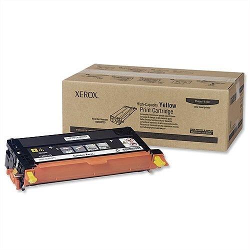 Xerox 113R00725 High Capacity Yellow Laser Toner for Phaser 6180 Series