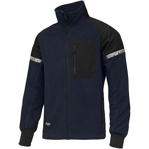 Snickers AllroundWork Windproof Fleece Jacket Size S WW2 Navy - Black