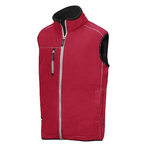 Snickers 8014 A.I.S. Fleece Vest Size S Red