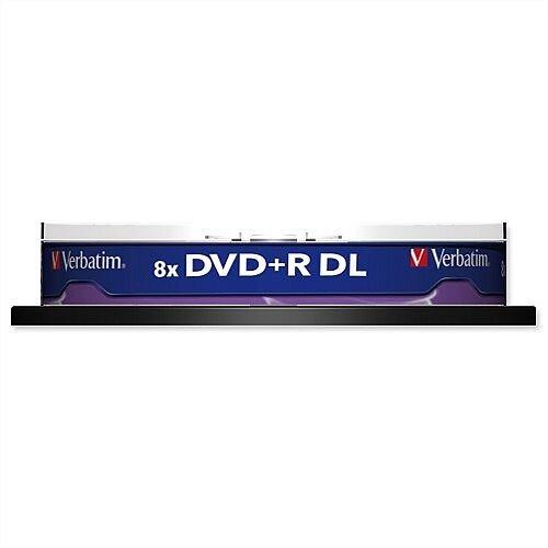 Verbatim DVD+R Dual Layer 8.5GB Spindle Pack 10