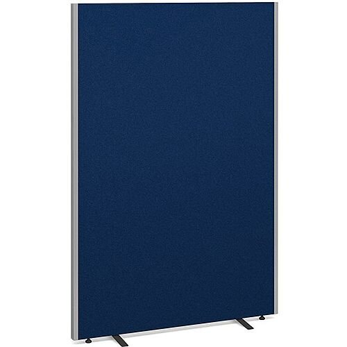 Floor Standing Acoustic Fabric Upholstered Screen 1800mm Highx1200mm Wide - Blue