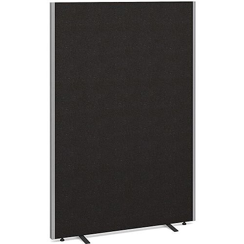 Floor Standing Acoustic Fabric Upholstered Screen 1800mm Highx1200mm Wide - Charcoal