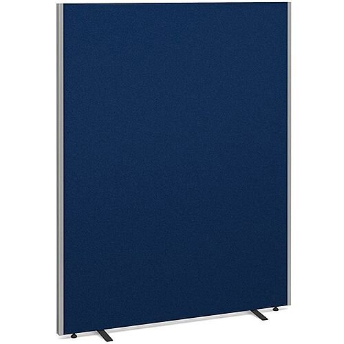 Floor Standing Acoustic Fabric Upholstered Screen 1800mm Highx1400mm Wide - Blue