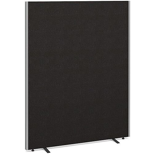 Floor Standing Acoustic Fabric Upholstered Screen 1800mm Highx1400mm Wide - Charcoal
