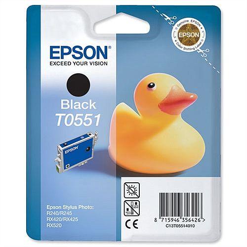 Epson (T0551) Black Original Ink Cartridge Capacity 8ml (C13T05514010)