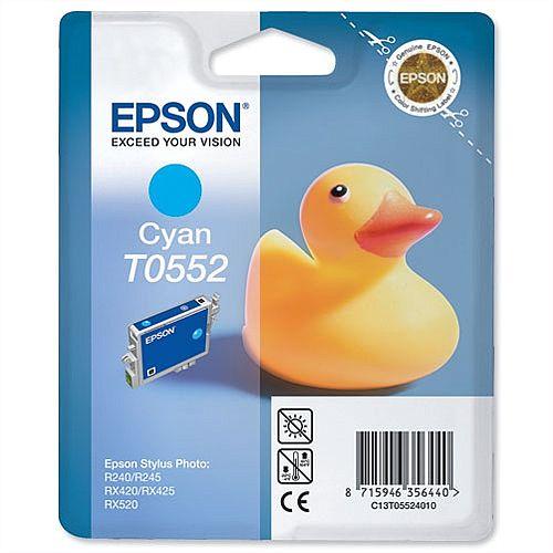 Epson (T0552) Cyan Original Ink Cartridge Capacity 290+ Pages (C13T05524010)