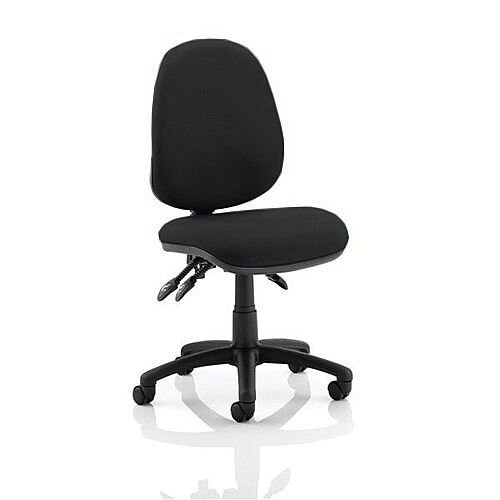 Trexus Lumb-Air High Back Task Operators Office Chair With Back Support Charcoal