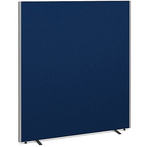 Floor Standing Acoustic Fabric Upholstered Screen 1800mm Highx1600mm Wide - Blue