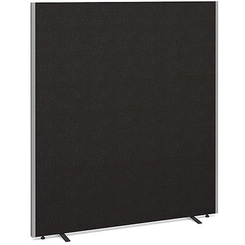 Floor Standing Acoustic Fabric Upholstered Screen 1800mm Highx1600mm Wide - Charcoal