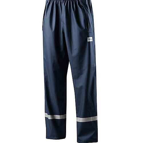 Snickers 8201 Rain Trousers PU Navy Size M