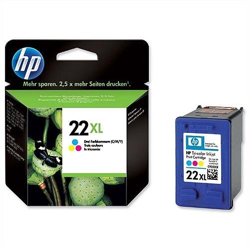 HP 22XL Tri Colour Ink Cartridge C9352CE