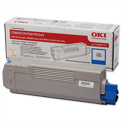 OKI 43865723 Cyan Toner Cartridge
