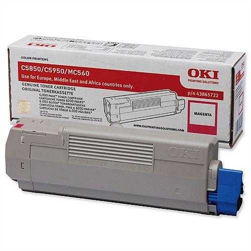 OKI 43865722 Magenta Toner Cartridge