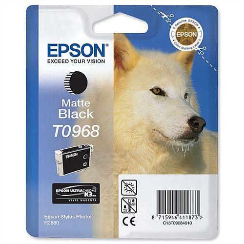 Epson (T0968) Matte Black Ink Cartridge (C13T09684010)