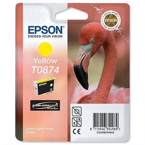 Epson T0874 Yellow Ink Cartridge