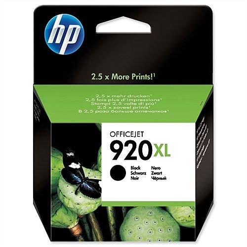 HP 920XL Inkjet Cartridge Black CD975AE
