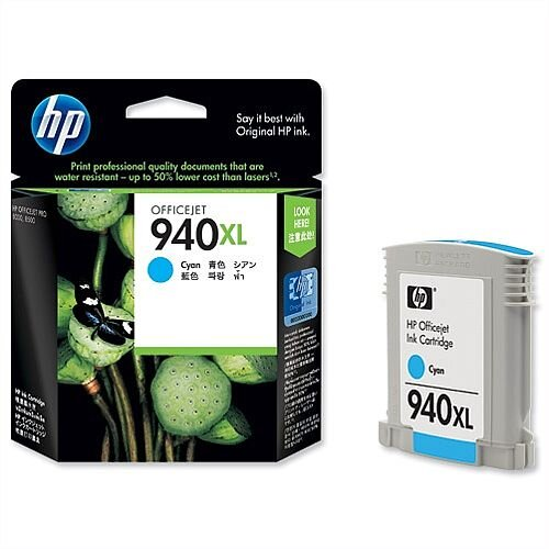 HP 940XL Cyan Inkjet Cartridge C4907AE