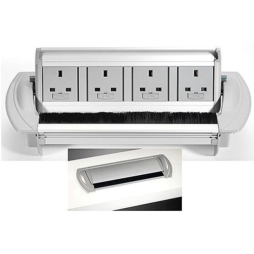 CMD Horizontal 4 x Power Sockets Only 85PG03