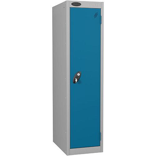 Probe 1 Door Low Locker Hasp &Staple Lock Extra Depth ACTIVECOAT W305xD460xH1220mm Silver Blue