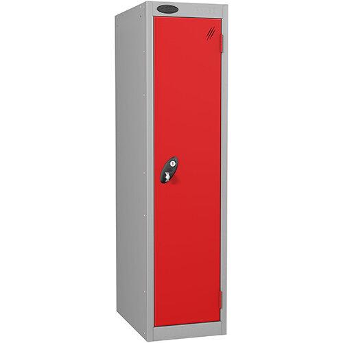 Probe 1 Door Low Locker Hasp &Staple Lock Extra Depth ACTIVECOAT W305xD460xH1220mm Silver Red