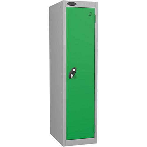 Probe 1 Door Low Locker Hasp &Staple Lock Extra Depth ACTIVECOAT W305xD460xH1220mm Silver Green