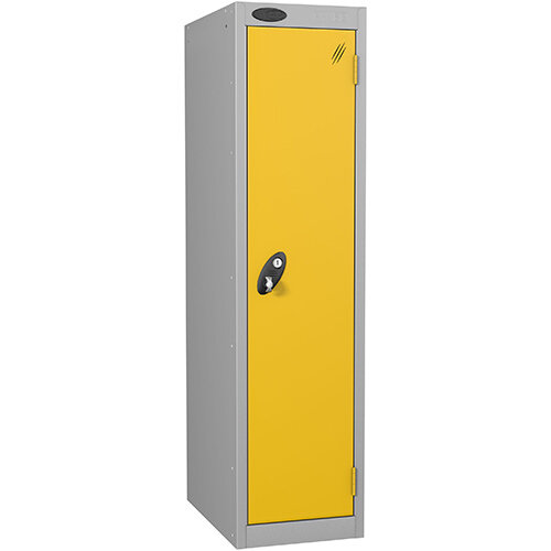 Probe 1 Door Low Locker Hasp &Staple Lock Extra Depth ACTIVECOAT W305xD460xH1220mm Silver Yellow