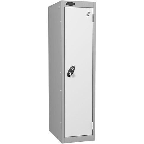 Probe 1 Door Low Locker Hasp &Staple Lock Extra Depth ACTIVECOAT W305xD460xH1220mm Silver White