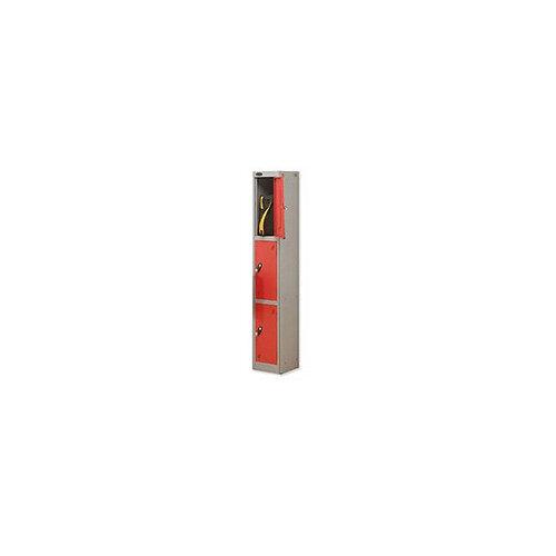Probe 3 Door Locker Hasp &Staple Lock Extra Depth ACTIVECOAT W305xD460xH1780mm Silver Red