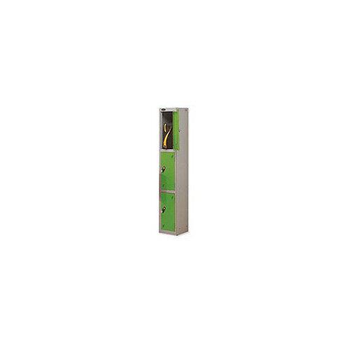 Probe 3 Door Locker Hasp &Staple Lock Extra Depth ACTIVECOAT W305xD460xH1780mm Silver Green