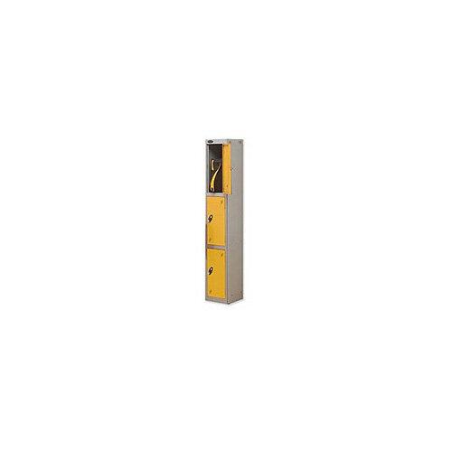 Probe 3 Door Locker Hasp &Staple Lock Extra Depth ACTIVECOAT W305xD460xH1780mm Silver Yellow