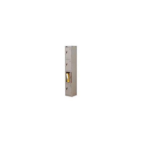 Probe 4 Door Locker Hasp &Staple Lock Extra Depth ACTIVECOAT W305xD460xH1780mm Silver