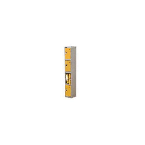 Probe 4 Door Locker Hasp &Staple Lock Extra Depth ACTIVECOAT W305xD460xH1780mm Silver Yellow