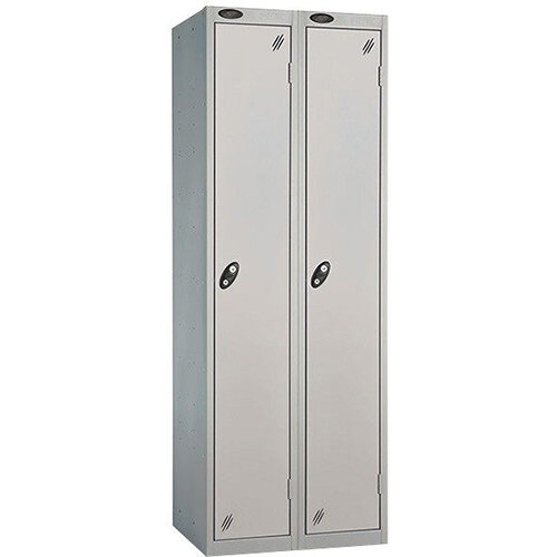 Probe 1 Door Extra Deep Locker ACTIVECOAT W305xD460xH1780mm Nest of 2 Silver Body &Doors By Lion Steel