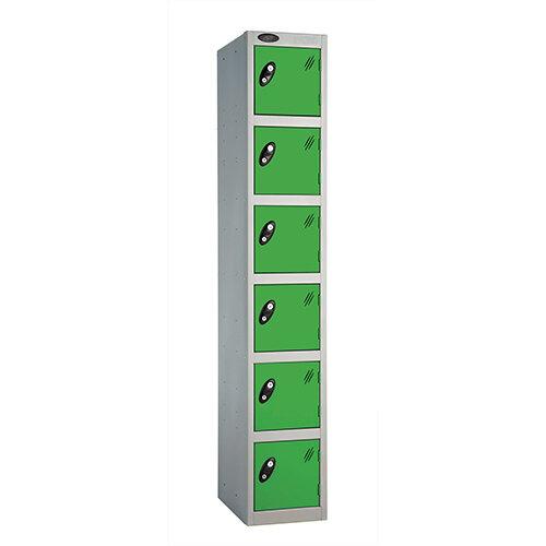 Probe 6 Door Locker ACTIVECOAT W305xD305xH1780mm Silver Body Green Doors
