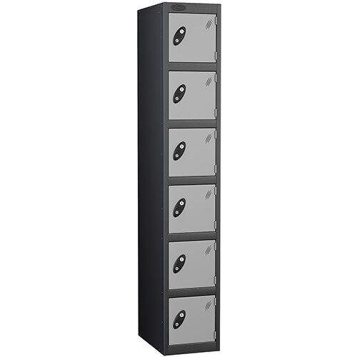 Probe 6 Door Locker ACTIVECOAT W305xD305xH1780mm Black Body Silver Doors