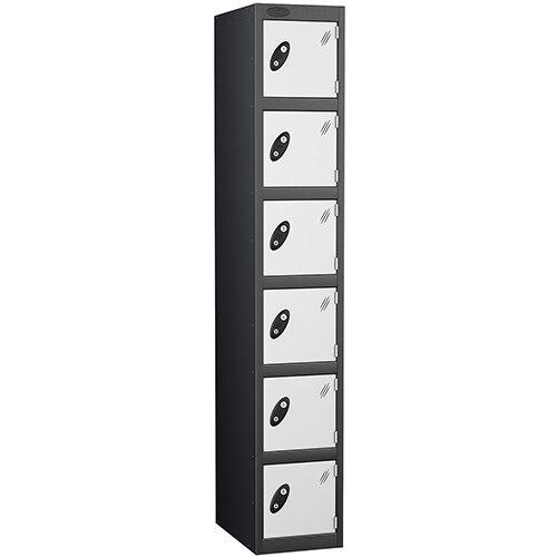 Probe 6 Door Locker ACTIVECOAT W305xD305xH1780mm Black Body White Doors