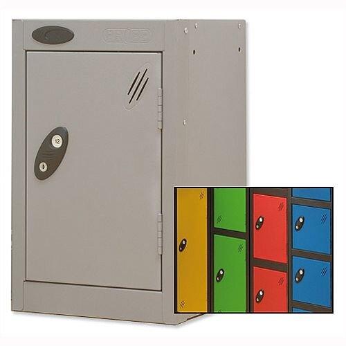 1 Door Small Locker Extra Deep Black Yellow Trexus