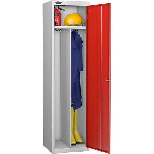 Probe Clean Dirty Locker W460xD460xH1780 Silver Body Red Door