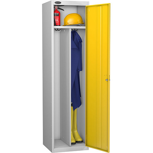 Probe Clean Dirty Locker W460xD460xH1780 Silver Body Yellow Door