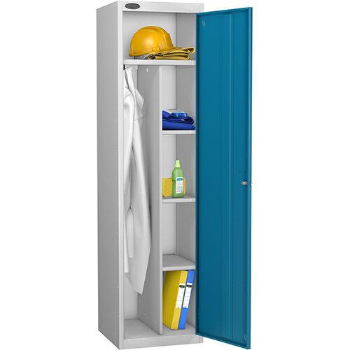 Uniform Locker Silver Body Blue Doors Probe
