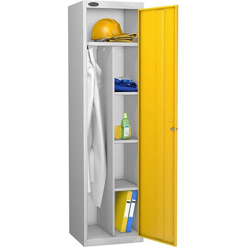 Uniform Locker Silver Body Yellow Doors Probe