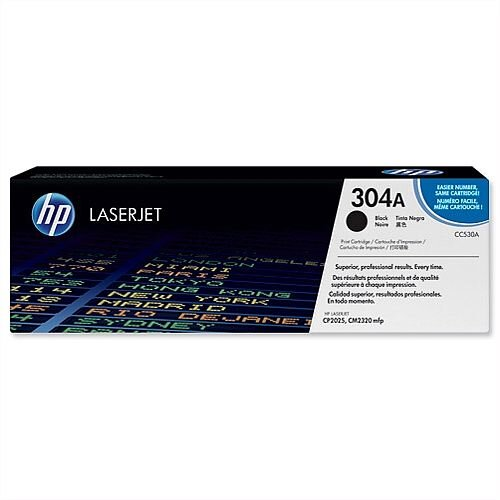 HP 304A Black LaserJet Toner Cartridge CC530A