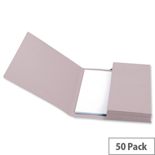 Document Wallet Foolscap Buff Pack 50 5 Star