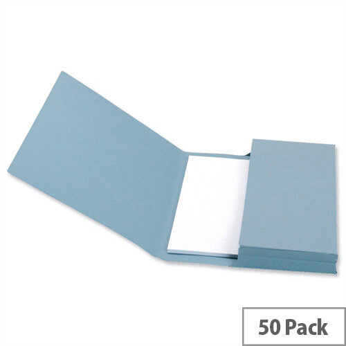 Document Wallet Foolscap Blue Pack 50 5 Star